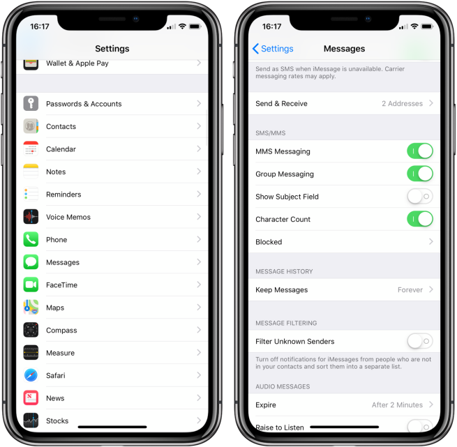 iPhone: How to enable character counter in the Messages